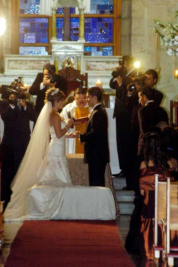 La pareja se casó en el 2007 en la iglesia de Santa Ana. Archivo GN.