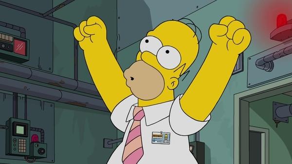 Homero está que brinca en una pata por el nuevo récord. FOX