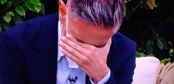 El director de Buen día no pudo contener las lágrimas. Captura de video