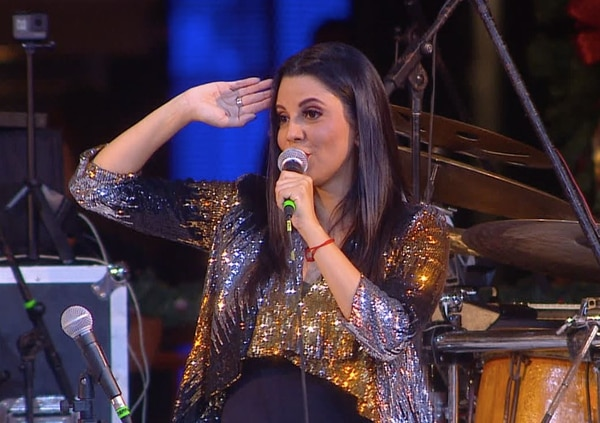 Vanessa González, cantante. Archivo