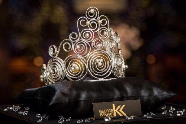 Esta es la corona, diseñada por George Bakkar, que le colocarán a Elena Correa. Tomada de Miss Costa Rica