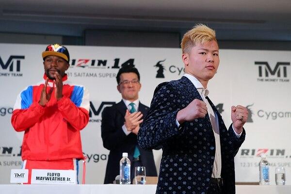 El japonés que pelea kickboxer Tenshin Nasukawa se quedará con las ganas. (Photo by Handout / RIZIN FIGHTING FEDERATION / AFP)