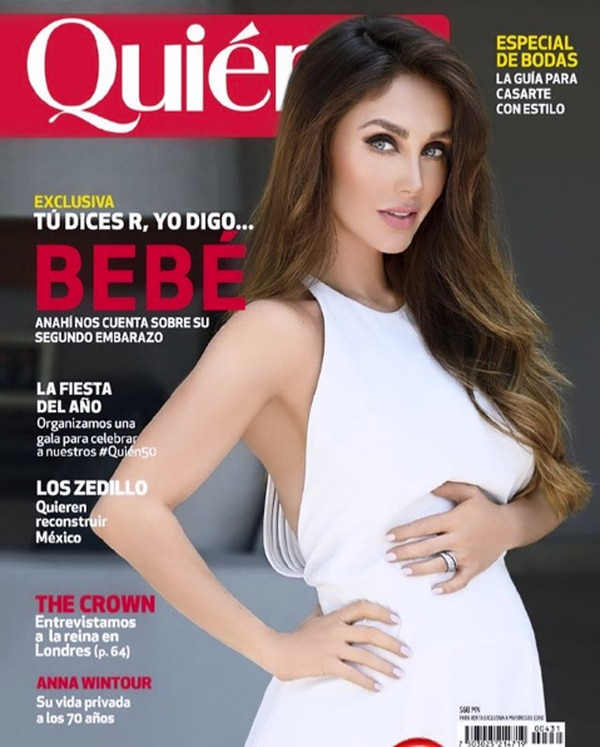 Anahí dio la noticia de su embarazo, en exclusiva, a la Revista 'Quien'. Foto: Instagram Anahí.