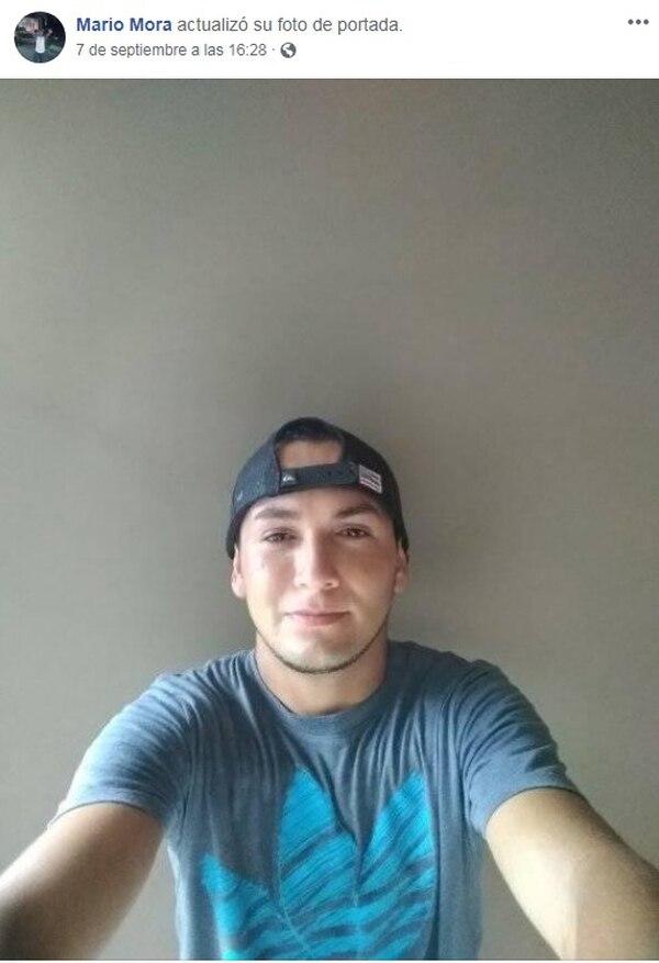 Mario Enrique Mora Chacón, de 23 años, dejó un hijo de dos años. Foto: Tomada de Facebook