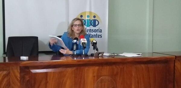 La defensora expresó que el año pasado recibieron en total más de 26 mil denuncias. Yenci Aguilar.