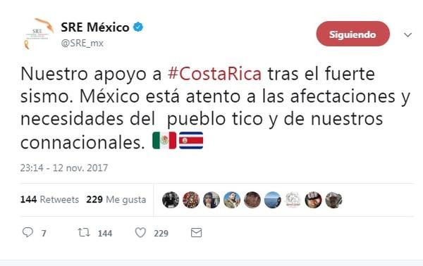 Dos muertos tras sismo de magnitud 6.5 en Costa Rica