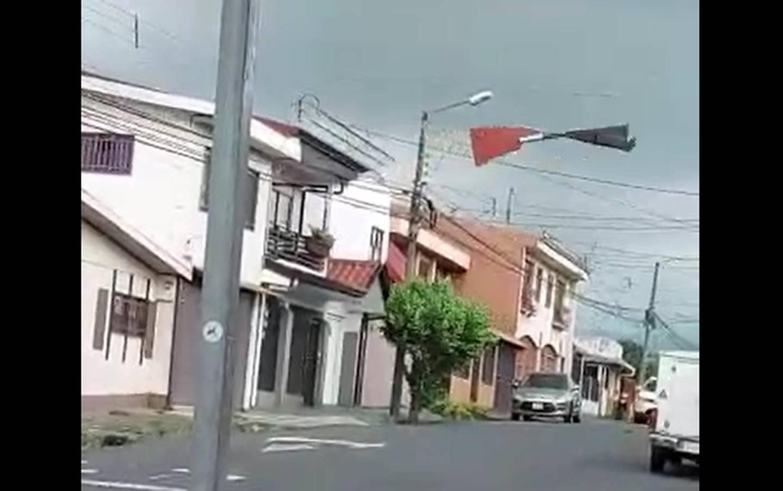 Torbellino en Santo Domingo de Heredia. Foto cortesía.