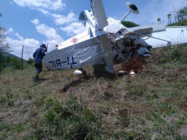 Las autoridades investigan las causas del accidente aéreo. Fotos: Cortesía MSP