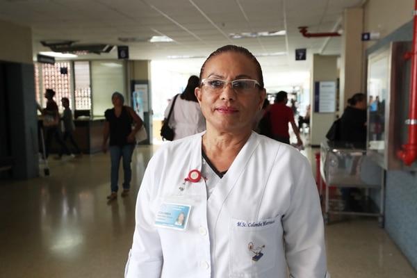 La enfermera Colomba Martínez es la jefa de consulta externa. Foto John Durán.