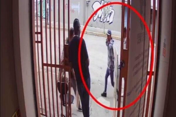 El ataque quedó grabado en una cinta de seguridad. Foto: Cortesía OIJ.