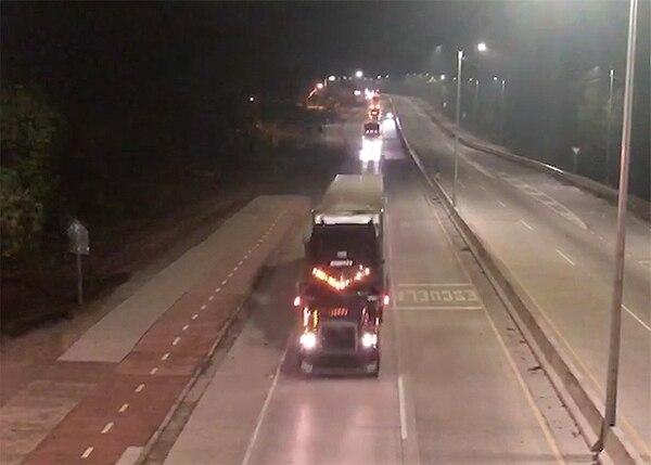 Así se vio el primer convoy de la noche del viernes.Foto: MSP.