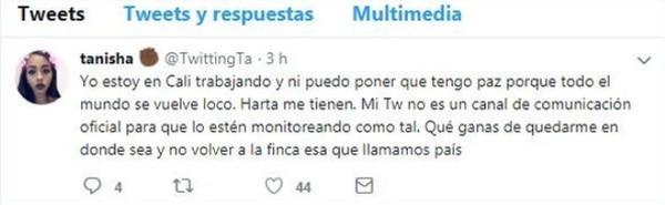 Este tuit levantó muchas críticas hacia la hija de la excanciller. Imagen tomada de Twitter.