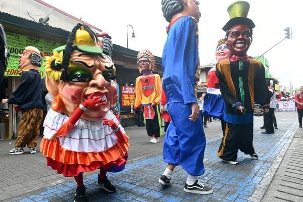 La tradición de las mascaradas sigue viva ahora en la capital. Foto de Jorge Castillo