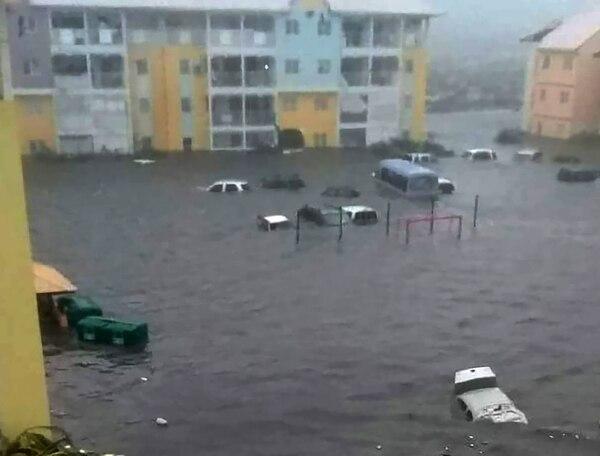 Otra imagen de la pequeña isla de Guadalupe, arrasada por el paso de Irma. AFP