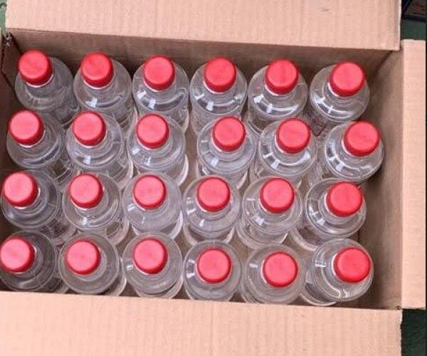 El licor fue decomisado en un negocio en Cocal de Puntarenas. Foto: OIJ