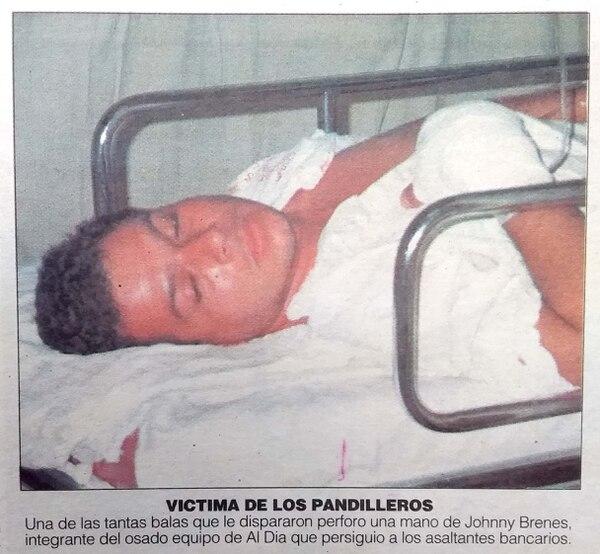 De puro milagro Johnny solo sufrió una herida en su mano derecha. Foto Archivo.