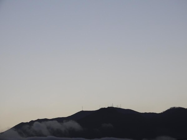 Un ovni sobre el volcán Irazú, uno de los puntos de mayor avistamiento. Foto: Alejandro Saenz.