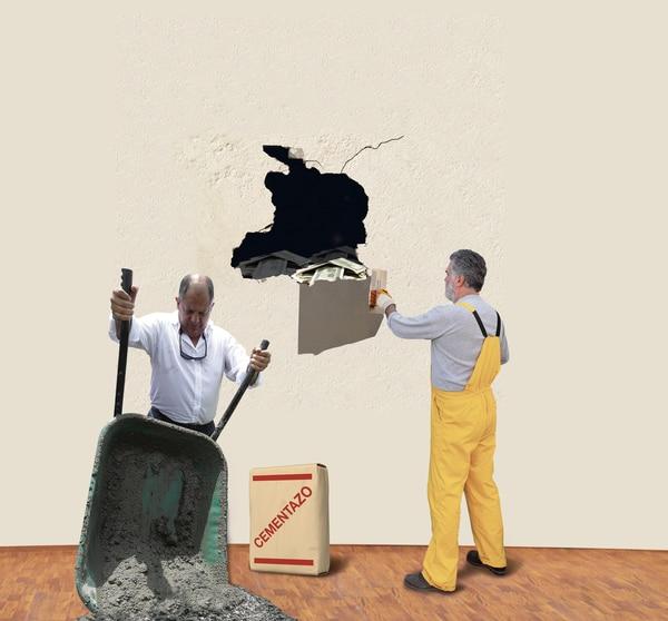 El cementazo y el hueco fiscal son los puntos negativos de la administración Solís. Foto: Diseño La Teja.