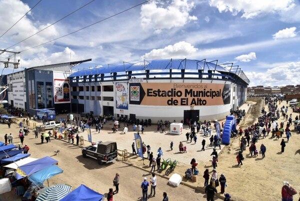 El estadio se ubica a más de cuatro mil metros de altura. AFP