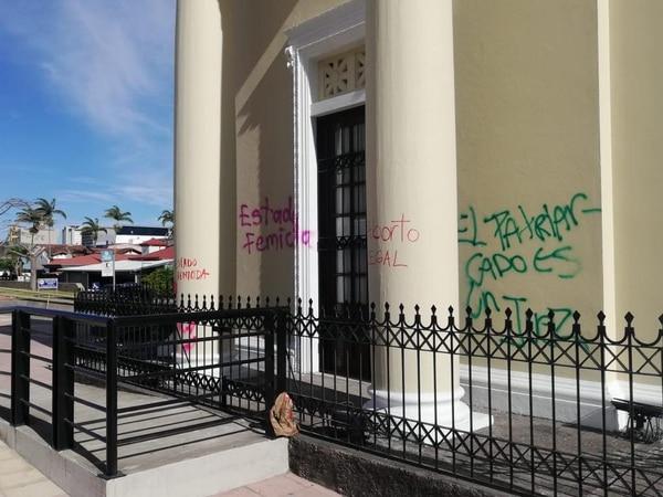 Las mujeres también pusieron mensajes proaborto. Foto: Poder Judicial.