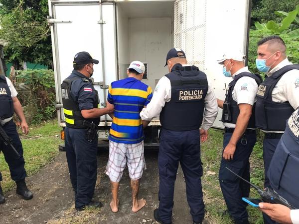 Sequeira fue detenido a unos cinco kilómetros de la cárcel. Foto: Justicia.