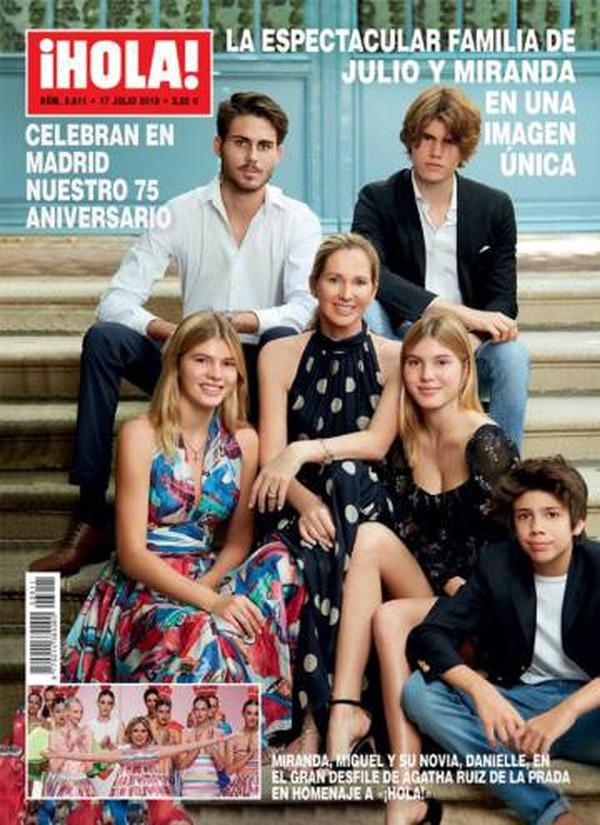 Julio tiene cinco hijos con Miranda Rijnsburger. Facebook