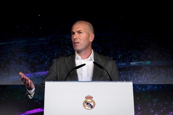 Claro y directo fue Zidane en su conferencia de prensa. (AP Photo/Bernat Armangue)