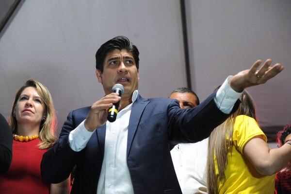 Fabricio Alvarado y Carlos Alvarado clasificaron a la segunda ronda tras obtener un 24,9% y 21,7% respectivamente, en las elecciones del pasado 4 de febrero. Foto Melissa Fernández