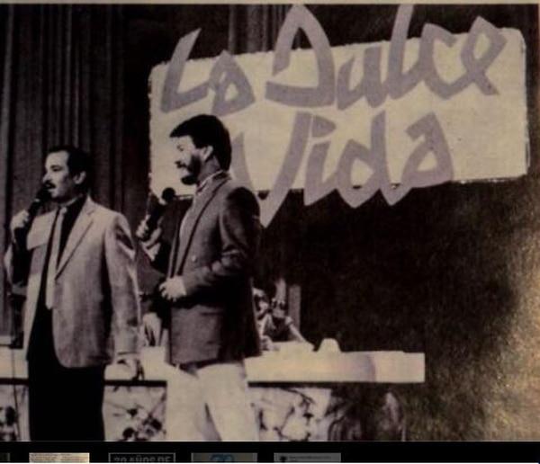 Lucho Ramírez y Nel López eran los presentadores del programa hace 30 años, el cual se transmitía los martes a las 9 p.m.. Foto: Cortesía Henry Loría.