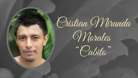 Exfutbolista Cristian Miranda falleció de leucemia