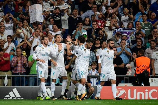 Cristiano no jugaba desde la expulsión en la Súper Copa de España, cuando le metieron cinco juegos de sanción, y este miércoles volvió anotando un doblete. AFP