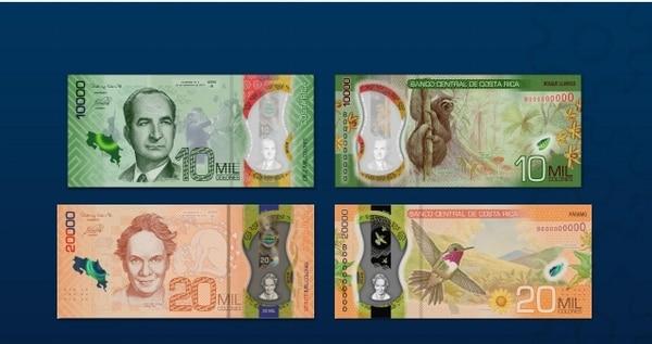 Los de 20 mil colones saldrán a partir del 26 de noviembre. Foto: Cortesía Banco Central