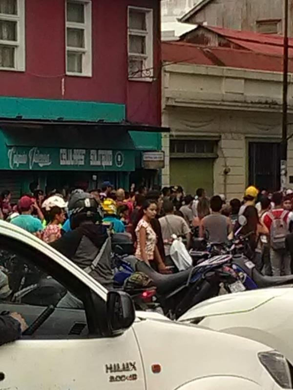La Fuerza Pública confirmó que hay 20 detenidos, la mayoría son costarricenses. Foto: Cortesía.