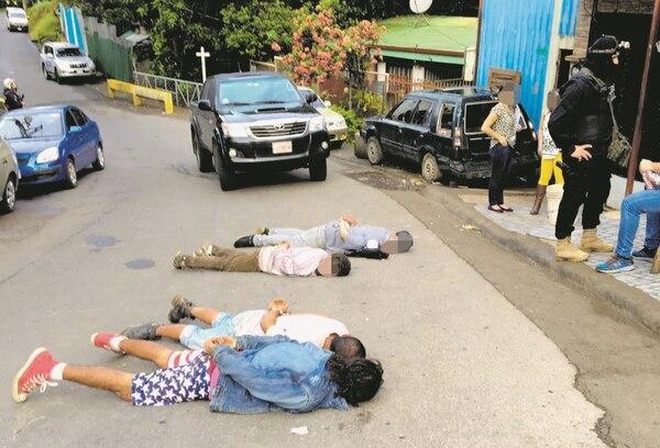 Al momento del allanamientos había once adictos en el búnker. Foto: Cortesía.
