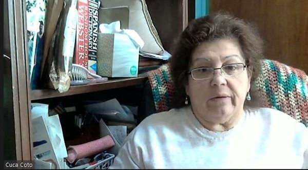 Doña Cuca Coto nos contó la historia de sus papás por Zoom, ella vive en Nueva York
