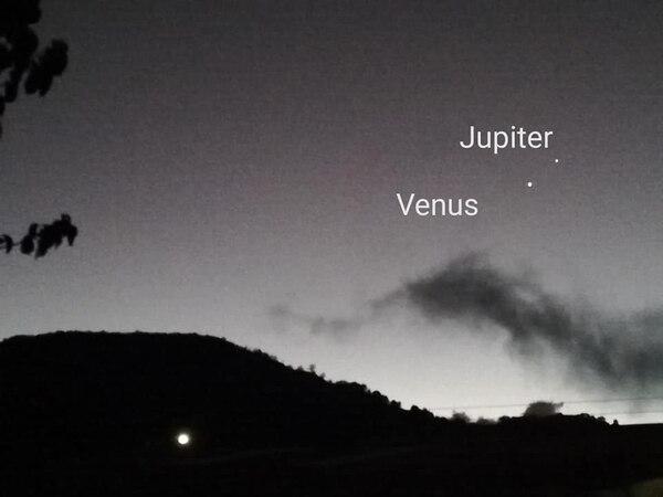 Rónald Arias Marchena captó a Venus y a Júpiter desde Copey de Dota.