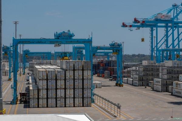 La terminal contará con 6 grúas para la carga y descarga de contenedores. José Cordero.