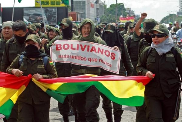 Protestas en Bolivia por la polémica reelección de Evo Morales. AFP