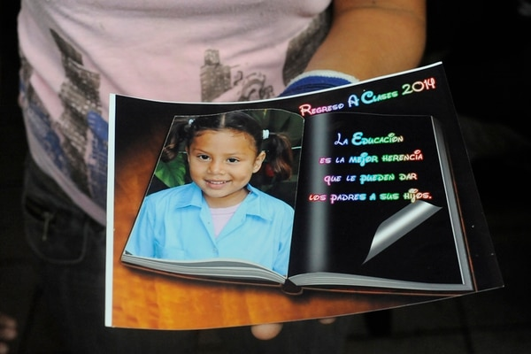 Yerelin Guzmán de cinco años quien desapareció el 11 de julio del 2014. Fotos Mariandrea García
