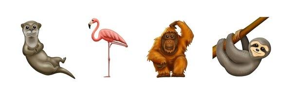 Parte de los nuevos animales. Foto: emojipedia.