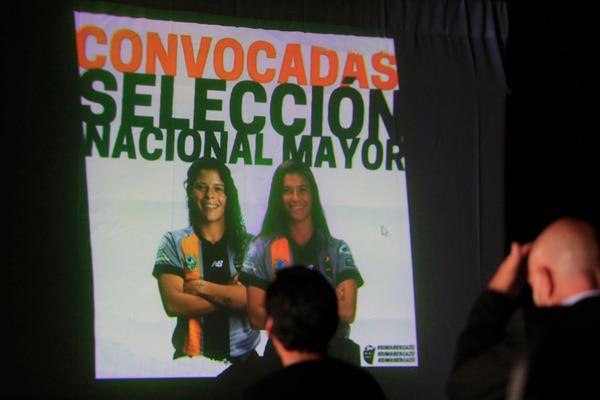 Dos jugadoras, Cristel Sandí y Yaniela Arias, fueron llamadas a la sele en la última convocatoria. Foto: Rafael Pacheco
