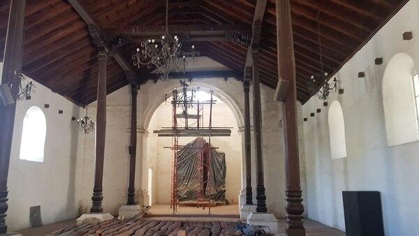 El templo de San Blas podría estar listo en cuatro meses. Foto: Cortesía Presidencia