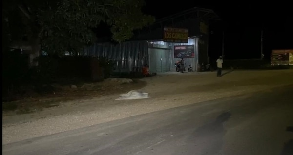 Chano falleció a un lado de la carretera. Foto cortesía Guana Noticias.