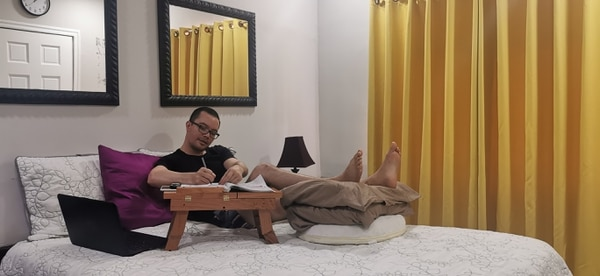El periodista Pablo Campos tiene dos meses de incapacidad por una trombosis. Foto: Cortesía