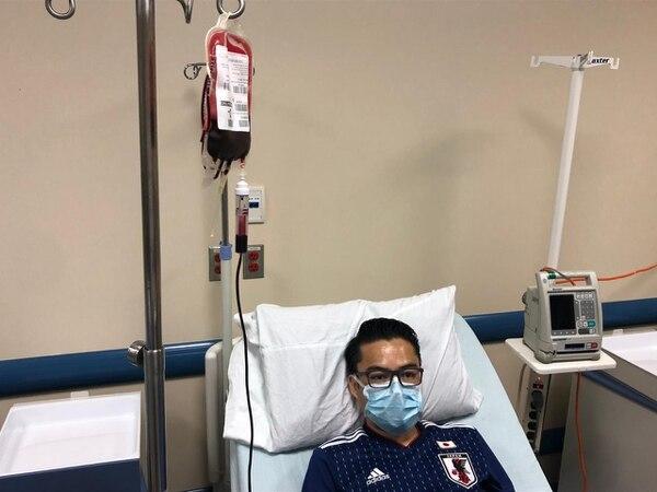 Allan Lizano recibe transfusiones desde los 12 años.