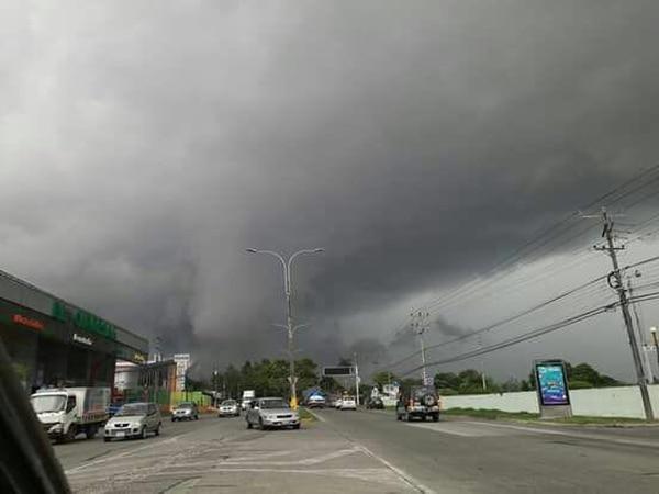 El fuerte aguacero en Cartago duró unos 40 minutos. Foto: cortesía