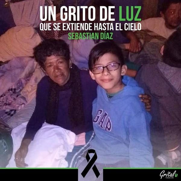 Sebastián Díaz tenía 12 años, cursaba el sétimo grado y le encantaba ayudar a los más necesitados. Fotos cortesía Fundación Grítalo.