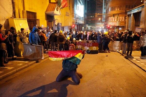 Protestas en Bolivia por la polémica reelección de Evo Morales. AP