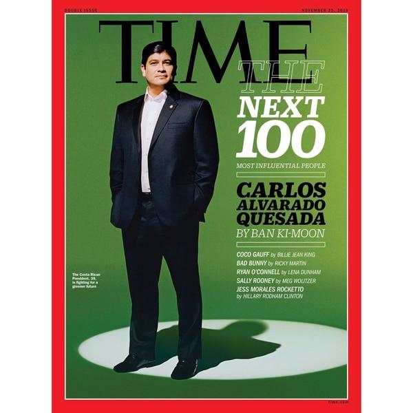 Carlos Alvarado fue destacado por la conocida revista Time.
