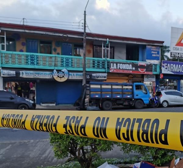 El homicidio se dio el 27 de diciembre en el centro de Guápiles. Foto: Reiner Montero.